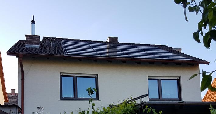PV Dach integriert